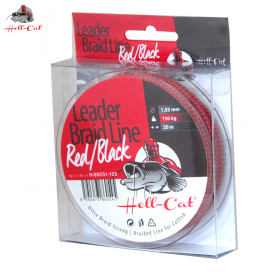 Hell-Cat Šnúra Leader Braid Line Red Black 20m 1.55mm 150kg