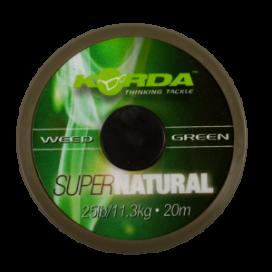 Korda - Šnúra Super Natural 25lb 20m Weedy Green