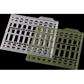 Kryston bižutéria - Predlžovací zarážky zelené, číre 126ks