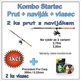 AKČNÝ SET Startec Prut s Navijak + Vlasec 1 + 1 Variant 2,70m