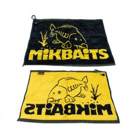Mikbaits Propagačné predmety - uterák čierno žltý s karabínou