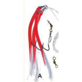Ice Fish trubičky náväzec háčik 12/0 červená 2ks