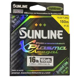 SUNLINE šnúra XPlasma Asegai 150m / 16 Lbs-LGR