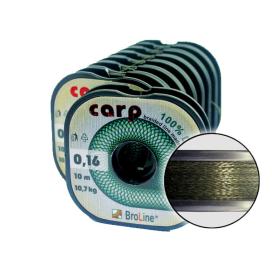 Carp Dyneema - oválna, tm.zelená / 10 m / 0,10 mm / 6,6 kg