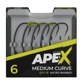 RidgeMonkey Háčik Ape-X Medium Curve Barbed 10ks