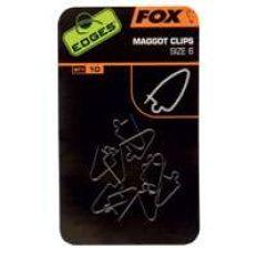 Fox Edges Maggot clips klip na červy vel.6 10ks