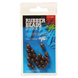 Giants Fishing Gumové guličky Rubber Beads Transparent Brown 7mm, 20ks