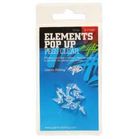 Giants Fishing Držiak nástrahy Elements Pop-Up Pegs Clear, 10ks