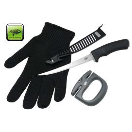 Giants Fishing Sada nôž, rukavice a brúsik Combo Filet