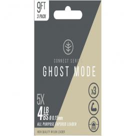Wychwood ujímání náväzec Ghost Mode tapers 3X 9ft 4lb