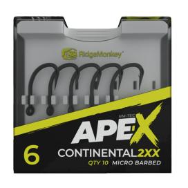 RidgeMonkey Háčik Ape-X Continental 2XX Barbed 10ks
