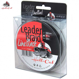 Hell-Cat Náväzcové šnúra Leader Braid Line Black 1,20mm, 100kg, 20m