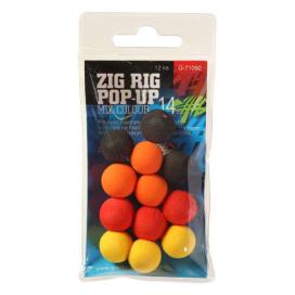 Giants Fishing Penové plávajúce boilie Zig Rig Pop-Up 14mm mix color, 12ks