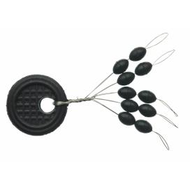 Sensas Zarážky Black Oval M 10ks