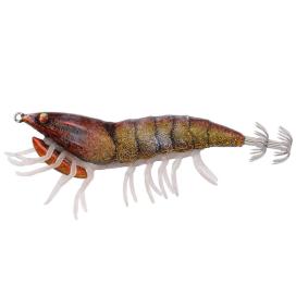 Savage Gear 3D Hybrid Shrimp EGI Jig Glitter Burnt Orange