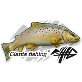 Giants Fishing Nálepka veľká - Pstruh