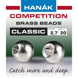 Hanák klasické mosadzné hlavičky Strieborné 2mm