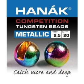 Hanák tungstenové hlavičky Metallic dúhové 20ks