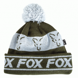 Fox čiapky Green & Silver lined bobble