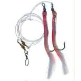 Papriky náväzec MIX Ice Fish háčik 12/0 červenostrieborná