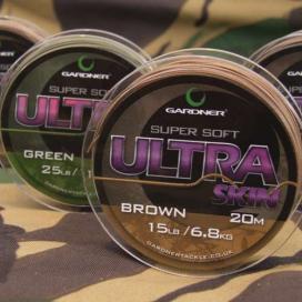 Gardner Splietané šnúra Ultra Skin 20m | 15lb (6,8kg) / Brown (hnedá)