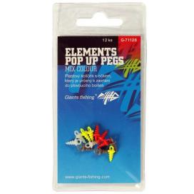 Giants Fishing Štipec s očkom Elements Pop Up Pegs Mix Colour, 12ks