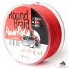 Hell-Cat Splietané šnúra Round Braid Power Red 1000m