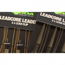 Korda Hotové montáže Leadcore leader Ring Swivels weed / Silt 3ks