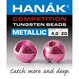 Hanák tungstenové hlavičky Metallic svetlo ružová 20ks 3,0mm