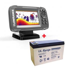 AKCIA Lowrance Echolot HOOK2 4x GPS Bullet Skimmer + Batérie