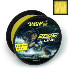 Black Cat Šnúra Zeus line svietivo žltá