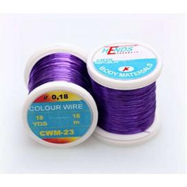 Hends krúžkovacie drôtik Color Wire 0,09mm 21,6 fialový