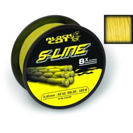 Black Cat Šnúra S-line svietivo žltá 1m