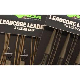 Korda Hotové montáže Leadcore leader Hybrid Lead Clip gravel / brown 3ks