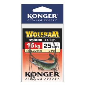 Konger Volfrámové lanko 2ks 25cm / 15kg