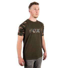 Fox Tričko CamoKhaki Chest Print T-Shirt