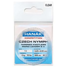 HANÁK Náväzec Competition Czech Nymph monofilné ujímání 9 m Číry 0,25 - 0,55 mm 4,5 kg