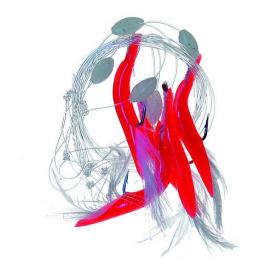 Súc Fish červené trubičky 1 190cm 5ks