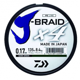 Daiwa pletená šnúra J-Braid X4 - Dark Green