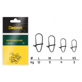 Delphin Karabinky Fastlock Micro Snap 10ks