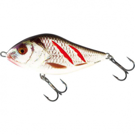 Salmo wobler floating wounded real grey Shiner 7cm 17 g