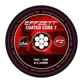 Dam Effzett Oceľové Lanko Coated Core7 Steeltrace Black 10m