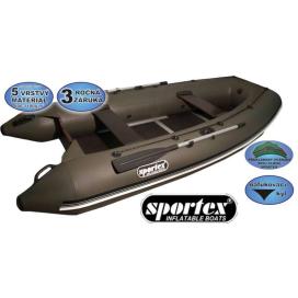 Sportex čln Shelf pevná podlaha so stredovým kýlom 420C sivý