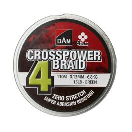 Dam Crosspower 4-Braid 0.15mm / 8.1Kg / 18Lb / 150M - Green