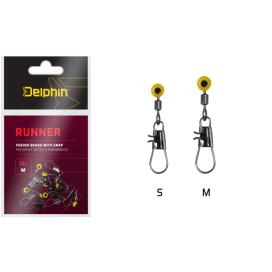 Delphin Feederové bežec s karabínkou RUNNER / 10ks