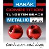 Hanák tungstenové hlavičky Metallic červené 20ks