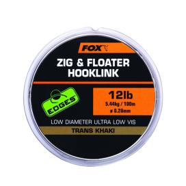 Fox náväzcová šnúrka Edges ZIG & Floater HOOKLINK 100m