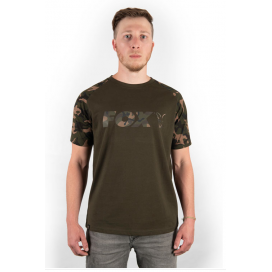 Fox Tričko Khaki Camo print T shirt