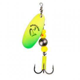 Savage Gear blyskáč Caviar Spinner Fluo Yellow / Chartresure