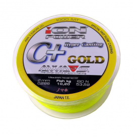 Awa-Shima rybársky vlasec ION POWER C + Hyper Casting GOLD 1000m
